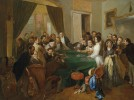 La Traviata - The scandal at the game table. Attributed to Carl d'Unker (1828–1866)