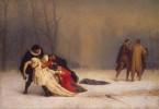 Duel After a Masquerade Ball by Jean-Léon Gérôme, 1859. Suite d'un bal masqué.