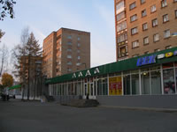 Part of the town between Kosmonavtov street and park 'Kultury i Otdyha' ('Culture and   Rest').