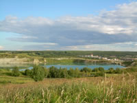 Artificial lake near Vetlosyan and Ozerniy settlements.