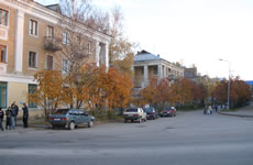 Intersection of Pervomayskaya and Kosolapkina streets.