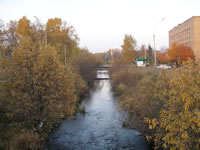 Chibiu river near the bus station flows towards 'Kultury i Otdiha' park.