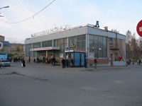Bus station in the Oktyabrskaya street.